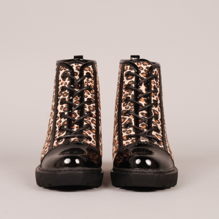 Opening Ceremony Leopard Canvas Boot - Leopard/Black (Image 1)
