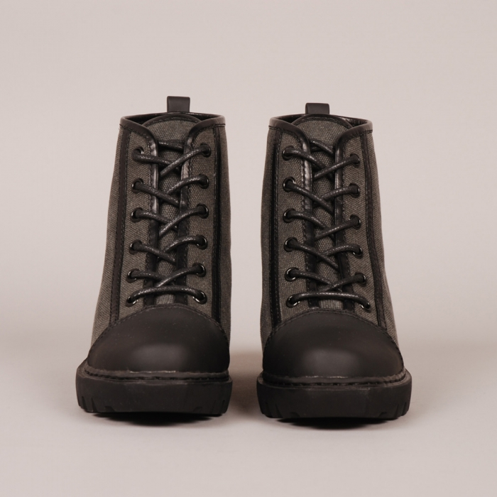 Opening Ceremony Grunge Sneaker - Black Canvas (Image 1)