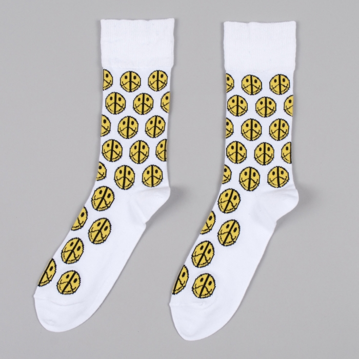 Perks & Mini PAM Smiley Socks - White (Image 1)