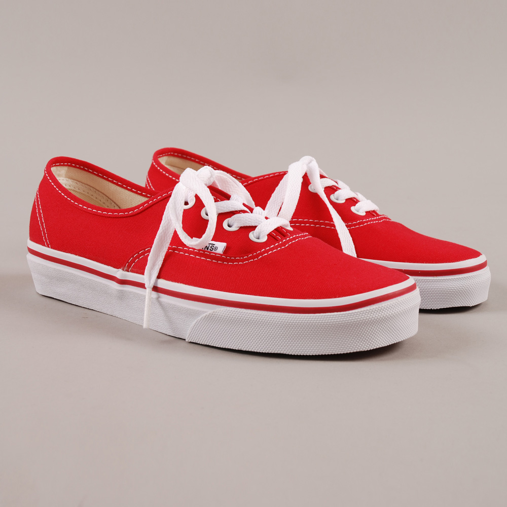 vans authentic red and white