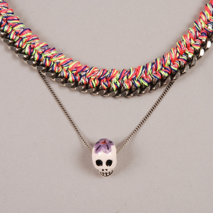 Venessa Arizaga Rainbow Connection Necklace - Neon Melange (Image 1)