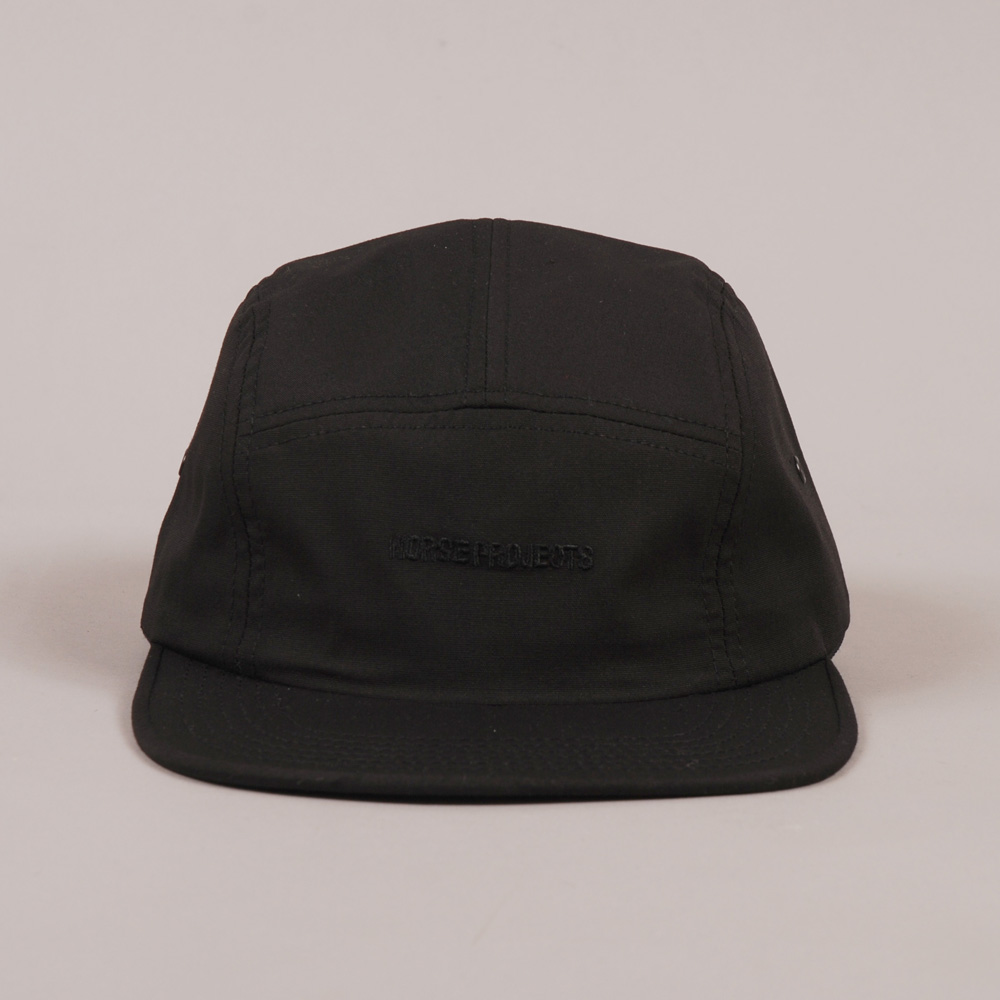 Norse Projects Embroidered Logo 5 Panel Cap - Black 404f583f756