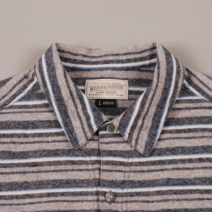 Neighborhood McKay LS Shirt - Grey Stripe (Image 1)