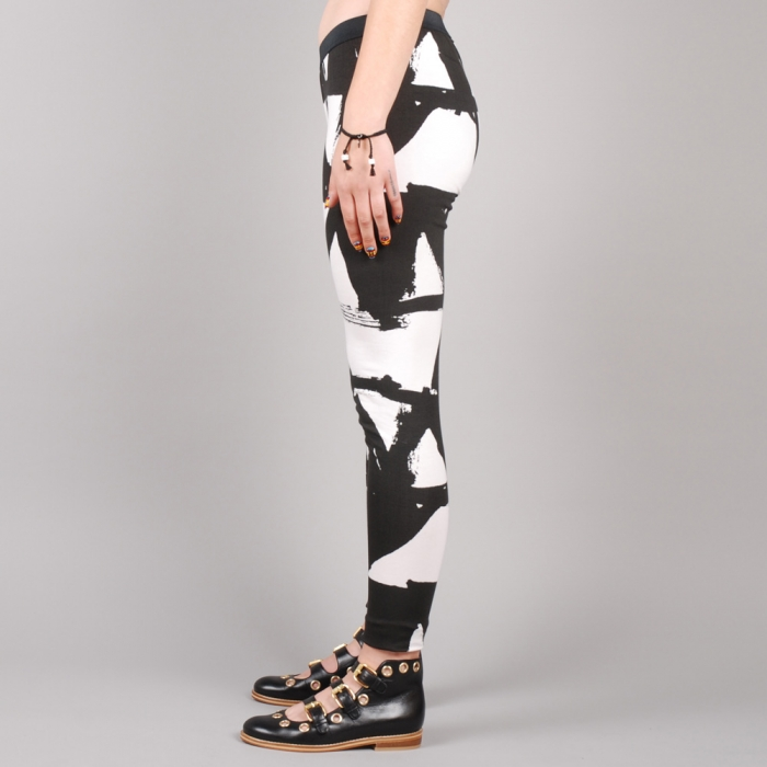 Perks & Mini PAM Kamayura Leggings - White/Black (Image 1)