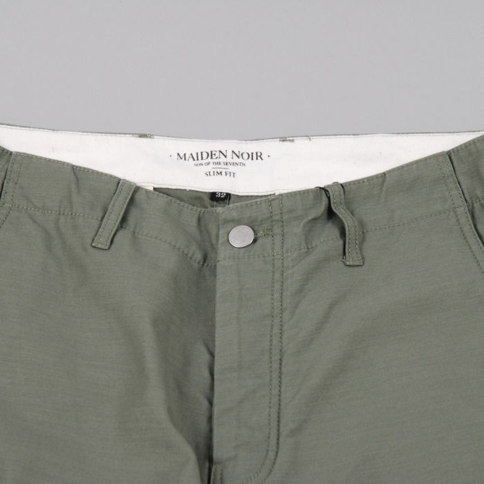 Maiden Noir Service Chino II Slim Fit - Olive Drab (Image 1)