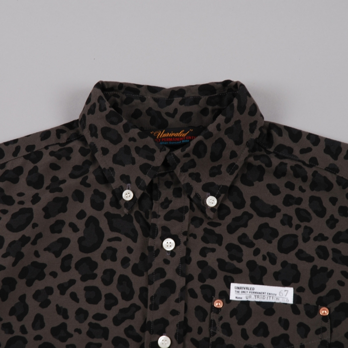 Unrivaled Tradition B.D Shirt - Leopard Print Grey (Image 1)