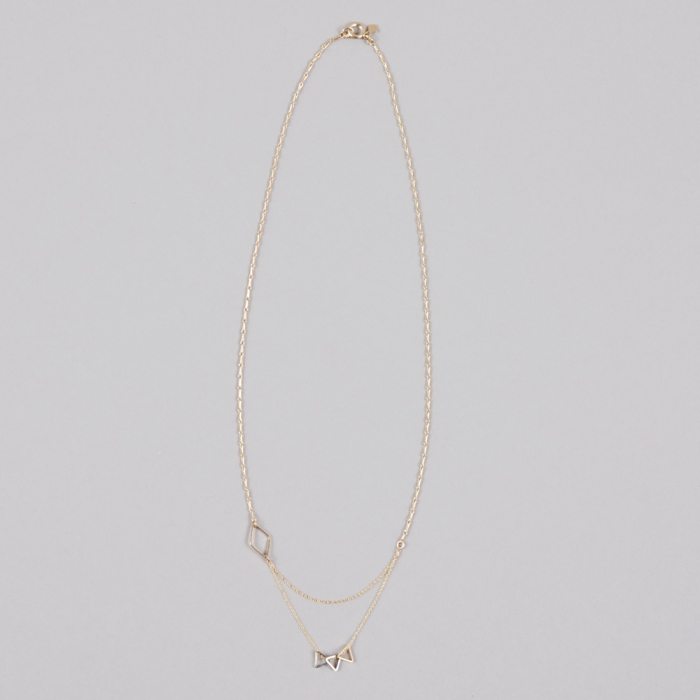 Alpha Beta Mix Me - Gold Double Necklace (Image 1)