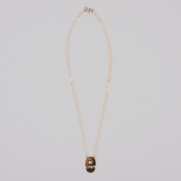 Alpha Beta Be Calm - Gold Necklace (Image 1)