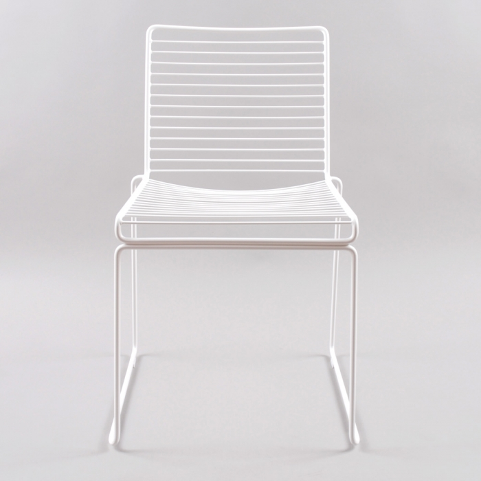 HAY Hee Dining Chair - White/ White Gliders (Image 1)