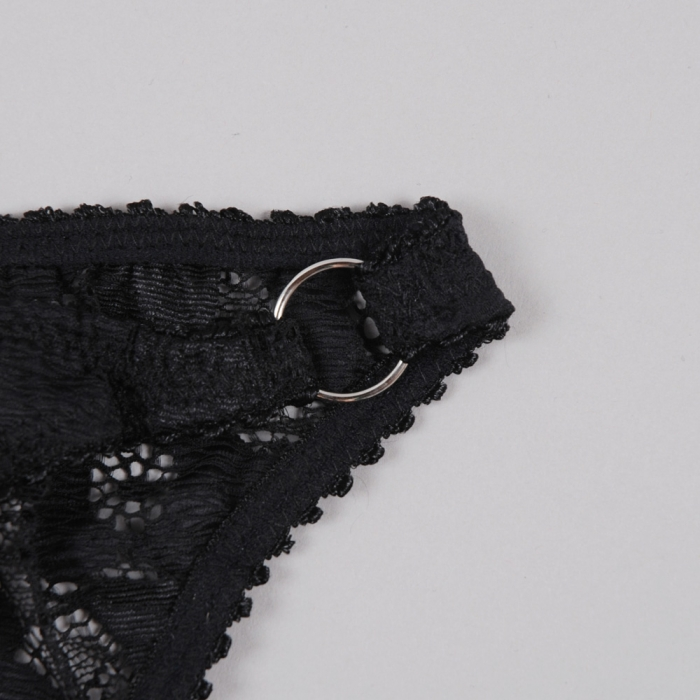 Lonely Lingerie Cyd Tri Brief - Black (Image 1)