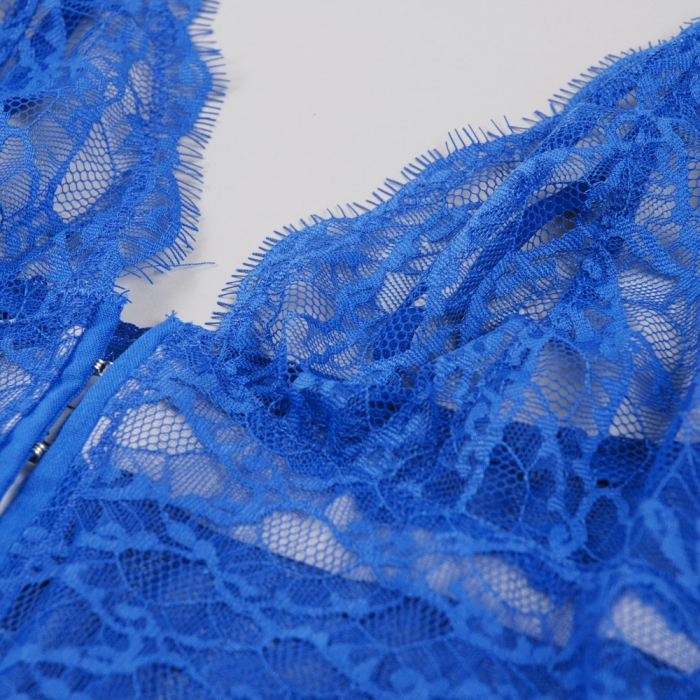 Lonely Lingerie Anouk Longline Bra - Bright Blue (Image 1)