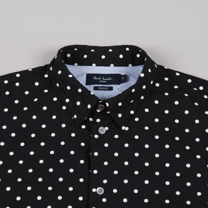 Paul Smith Polka Dot Dipped Shirt - Black (Image 1)