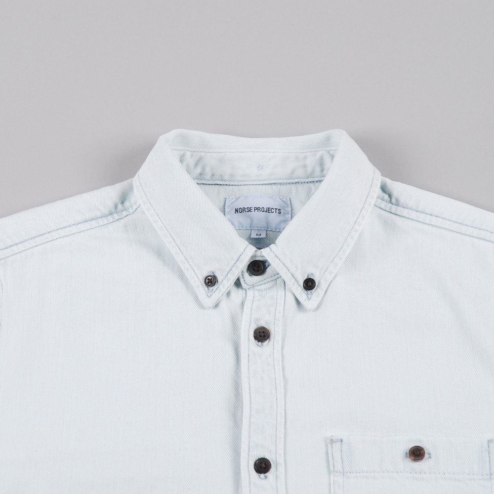 70b4cd1e64 Norse Projects Anton Denim Shirt - Bleached (Image 1)