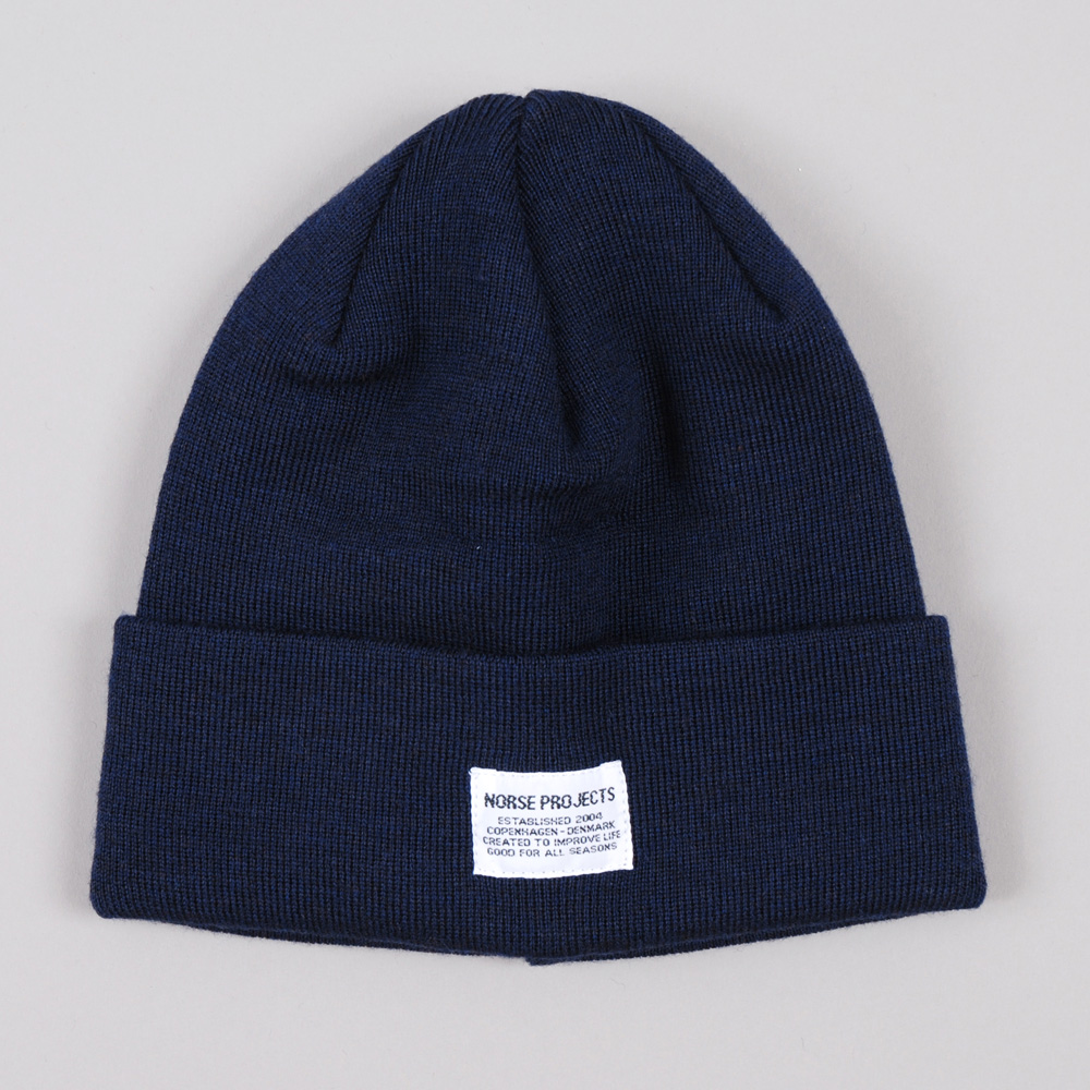 Navy Merino Wool Beanie Norse Projects mGm2PJYI8
