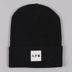 really cheap for whole family promo code Carhartt x A.P.C Bonnet - Black
