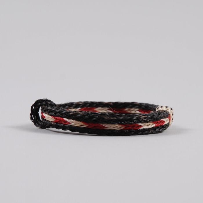 Chamula Braided Bracelet - Red/White/Black (Image 1)