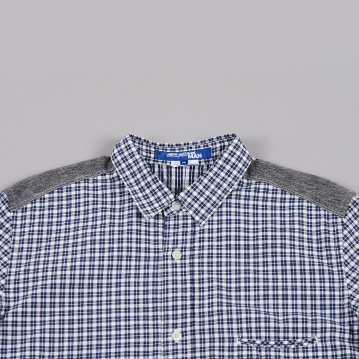 Junya Watanabe Man Cotton Shirt - Navy Check (Image 1)
