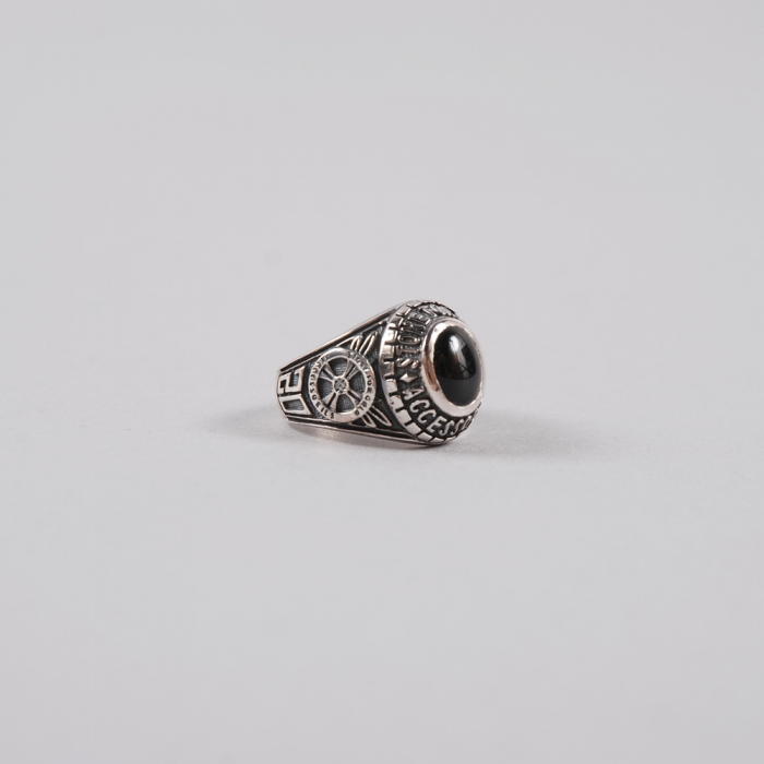 Stone For Gold Military Ring - Silver (Image 1)