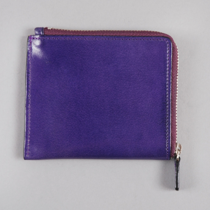 Il Bussetto Corner Zip Wallet - Purple (Image 1)