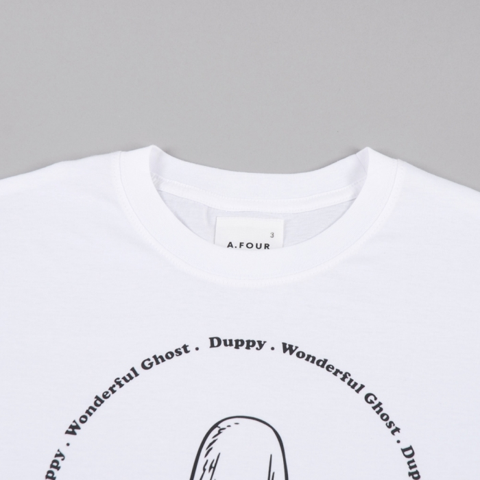 A.FOUR Duppy Print T-Shirt - White (Image 1)