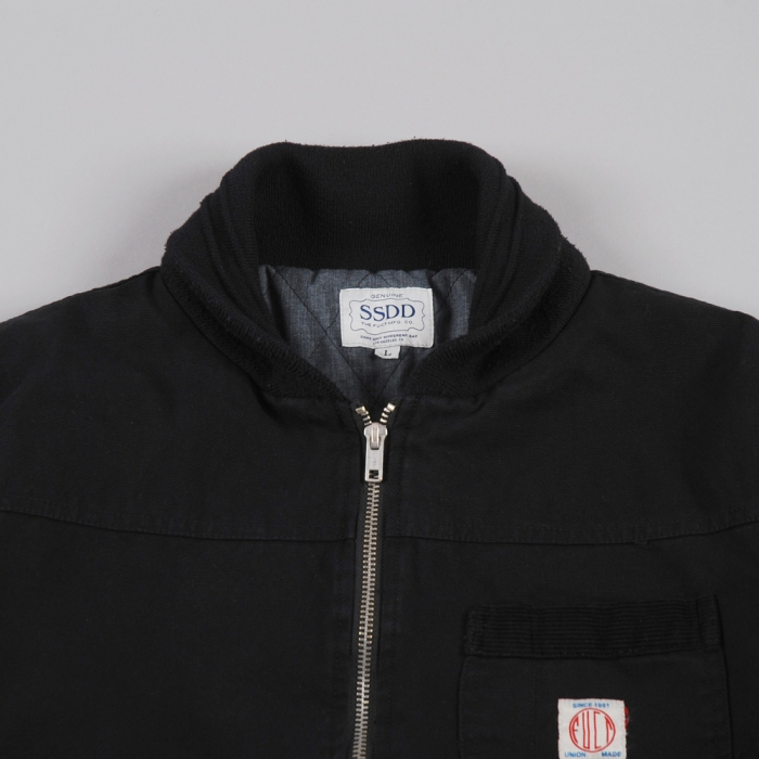 Fuct SSDD Coverall Station Jacket - Black (Image 1)