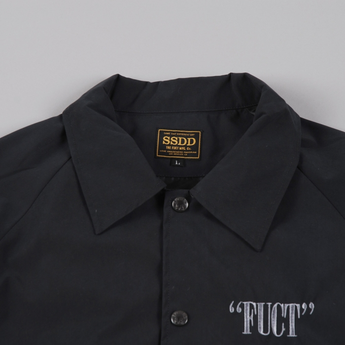 Fuct SSDD Matte Black Windcheater - Black (Image 1)