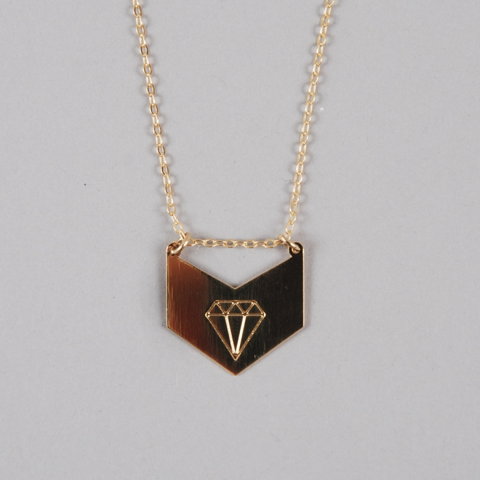 Alpha Beta Diamond Me Necklace - Gold (Image 1)