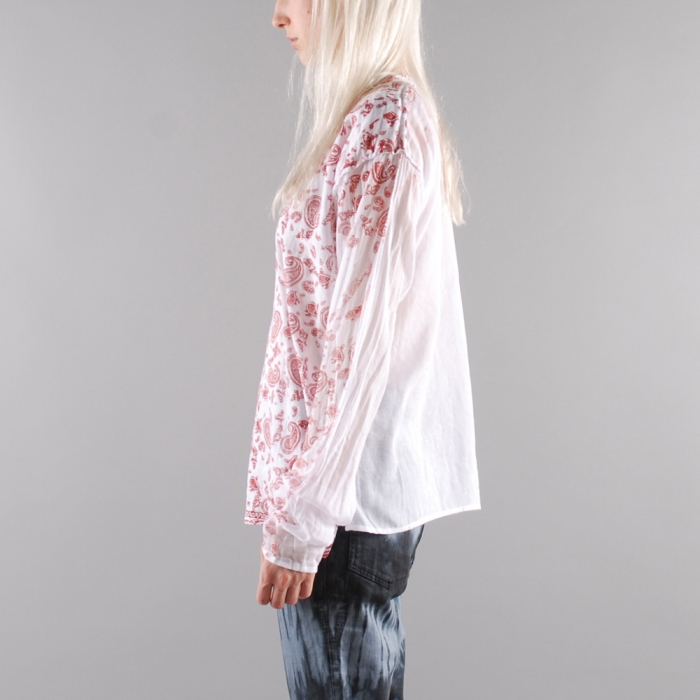 Aries Paisley Top - Red (Image 1)