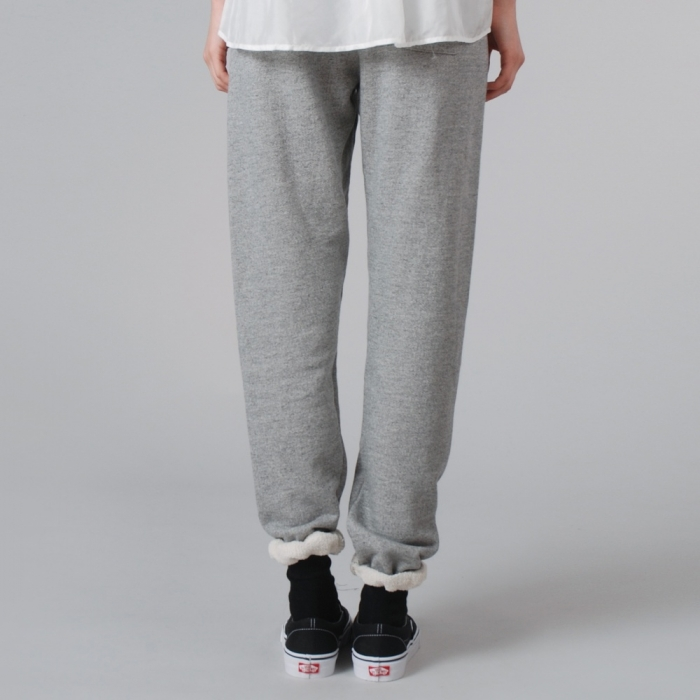 Clu Basic Sweat Pants - Heather Grey (Image 1)