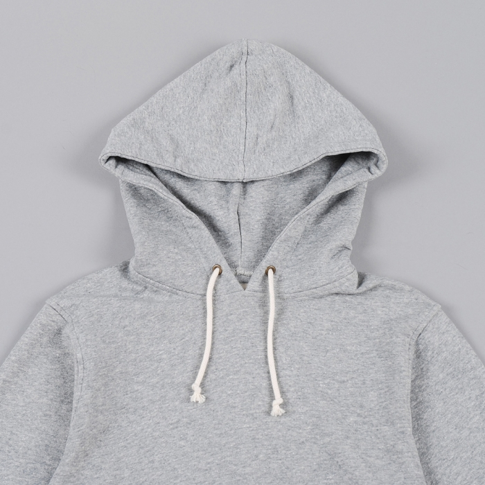 Universal Works Meadows Hoody - Grey Marle (Image 1)