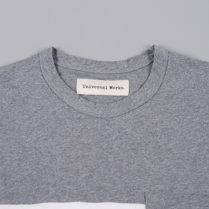 Universal Works Panel T-Shirt - Grey Marle (Image 1)