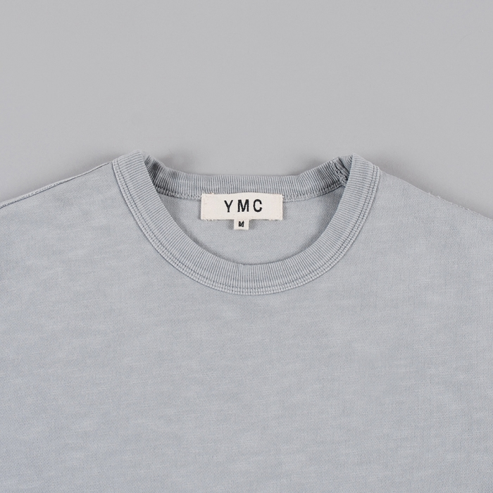 YMC Short Sleeve Sweat - Navy (Image 1)