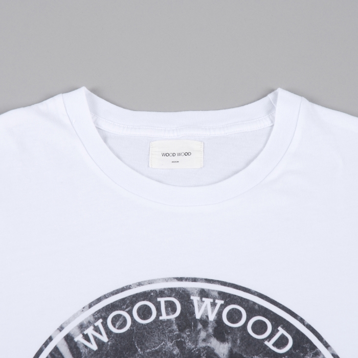 Wood Wood Marble Seal T-Shirt - White (Image 1)