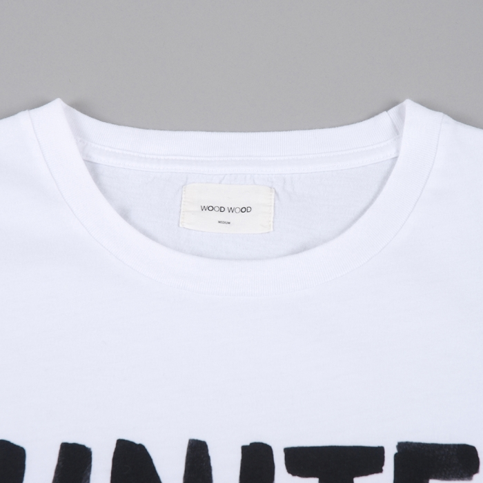 Wood Wood Shoplifters T-Shirt - White (Image 1)