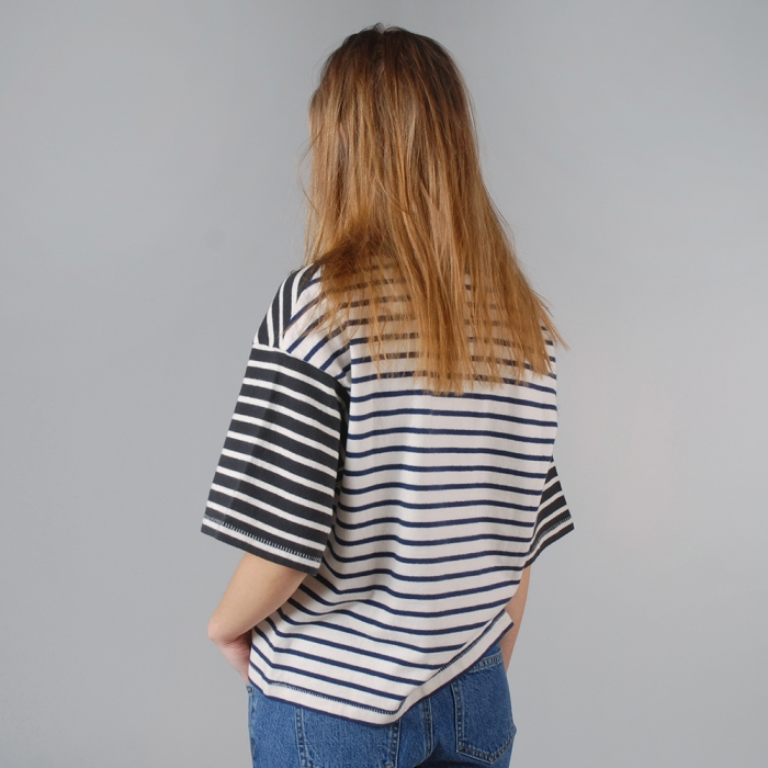 Wood Wood Anne T-Shirt - Mix Stripe (Image 1)