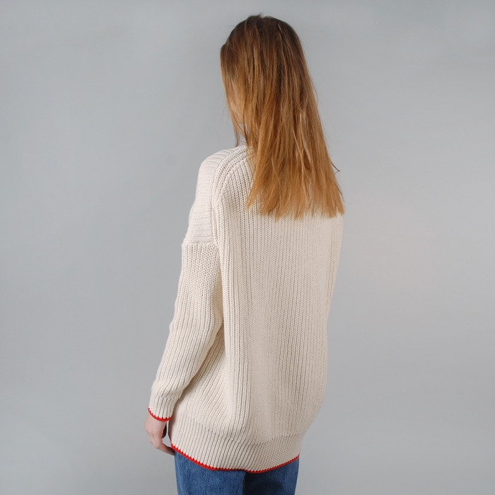 Wood Wood Celesse Sweater - Eggnog Red (Image 1)