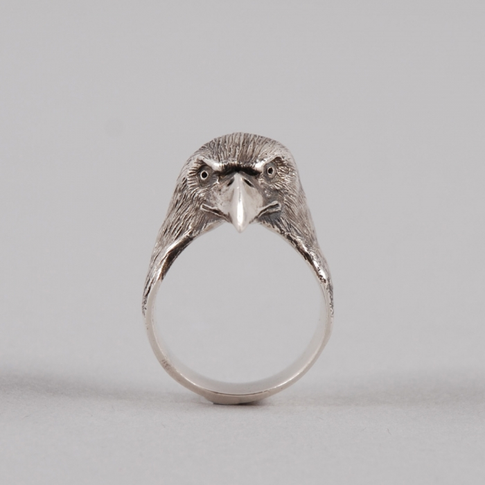 Dog State Eagle Ring - Silver (Image 1)