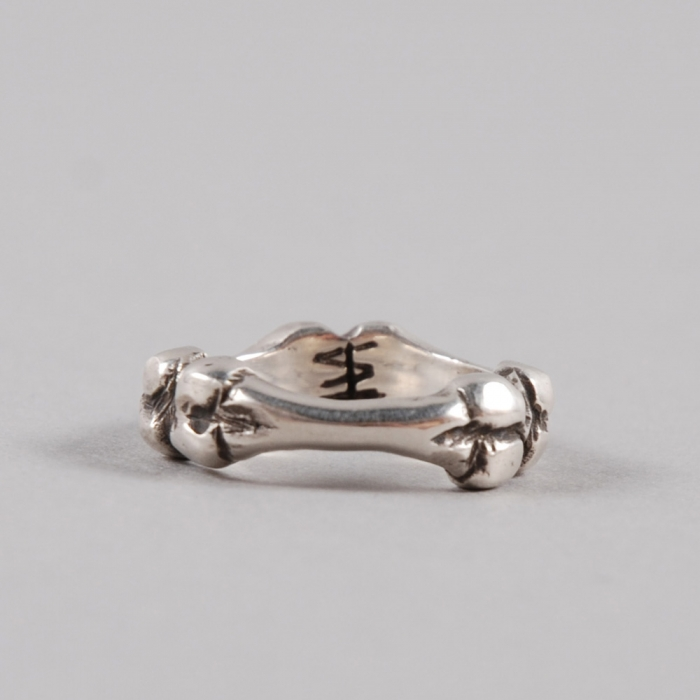 Dog State Large Bone Ring -  Silver (Image 1)
