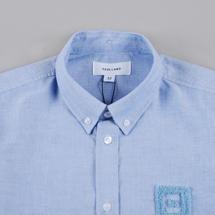 Soulland Weimar Shirt W.Embroidery - Blue (Image 1)