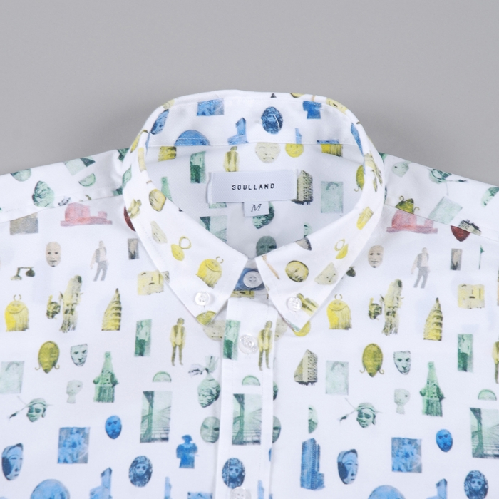 Soulland Mzungu Shirt W.All Over Print - White W.Multicolour (Image 1)