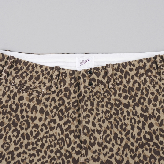 Garbstore Five Jet Chino Shorts - Tan Animal Print (Image 1)