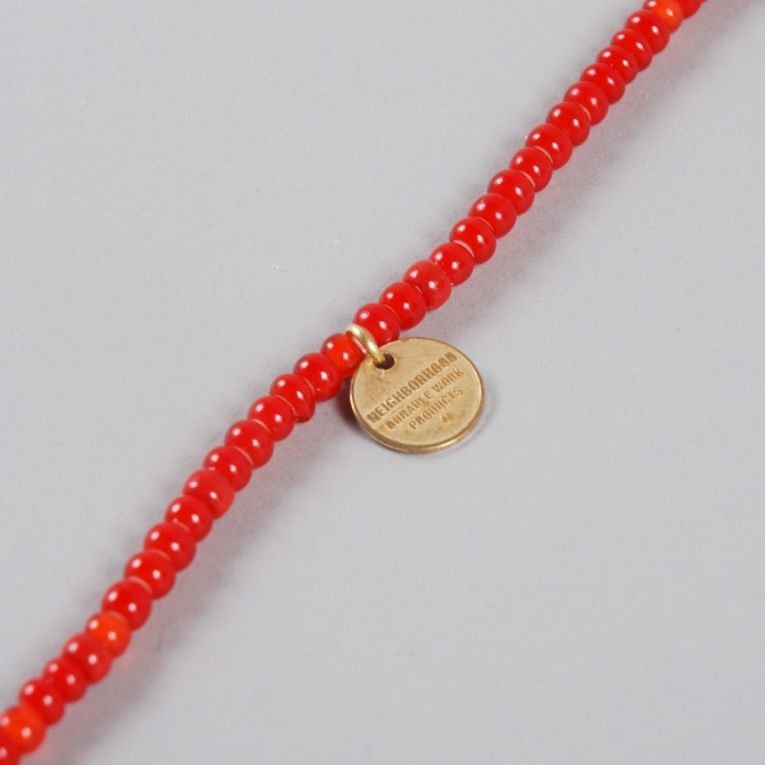 Neighborhood Bead Eye Necklace - Red (Image 1)