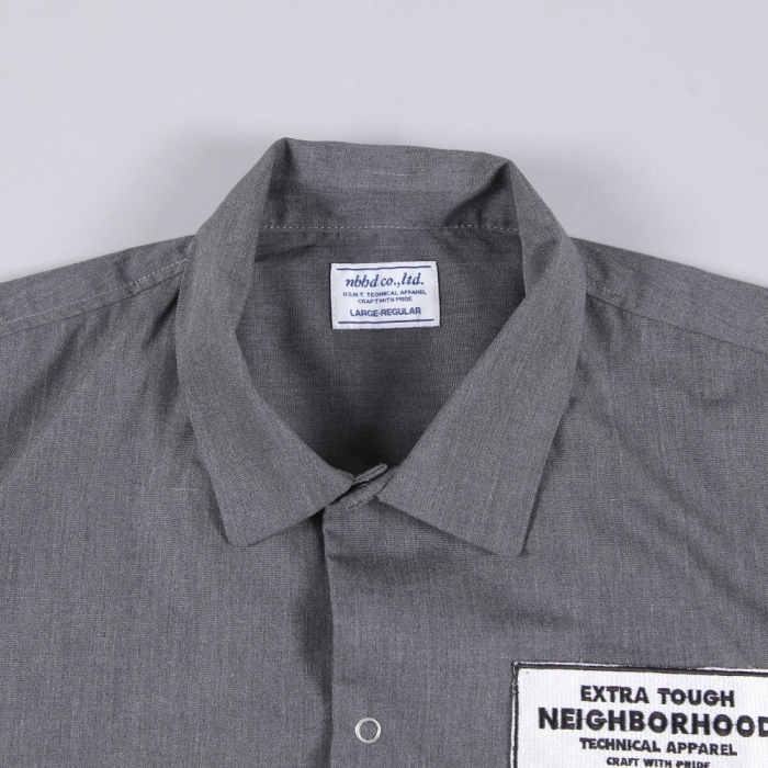 Neighborhood Classic Work S/S Shirt - Charcoal (Image 1)