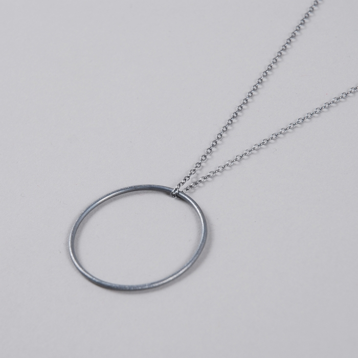 Pernille Corydon Plain Necklace With Coin - Oxy (Image 1)