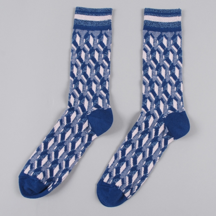 Perks & Mini PAM Tiled Sock - Blue/Pink (Image 1)
