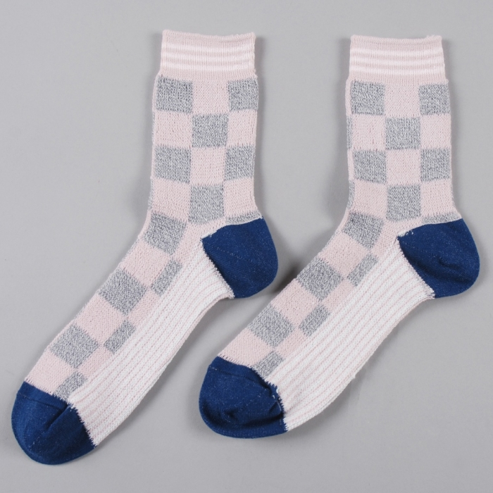 Perks & Mini PAM Checker Sock - GM/Pink (Image 1)