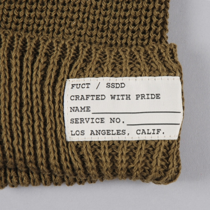 Fuct SSDD Cotton Watch Cap - Olive (Image 1)