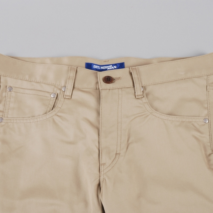 Junya Watanabe Man Cinch Back Work Pants - Khaki (Image 1)