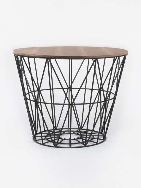 Wire Basket Table Top Smoked Oak - Medium