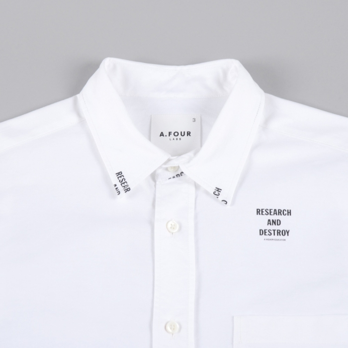 A.FOUR Printed Oxford L/S Shirt - White (Image 1)